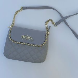 Betsey Johnson Grey Quilted Crossbody